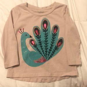 Long Sleeve Peacock Gymboree Top